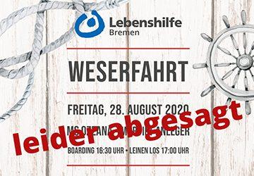 Weserfahrt 2020 Absage Web